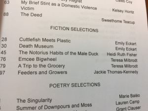Table of contents of Harpur Palate 19.1